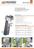 Technical Sheet Bar Screen SI350