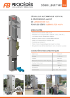 brochure dégrilleur vertical sg400