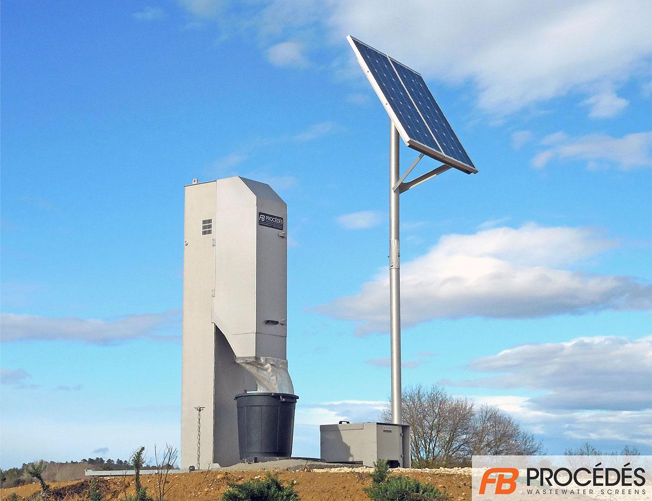 dégrilleur vertical avec alimentation solaire