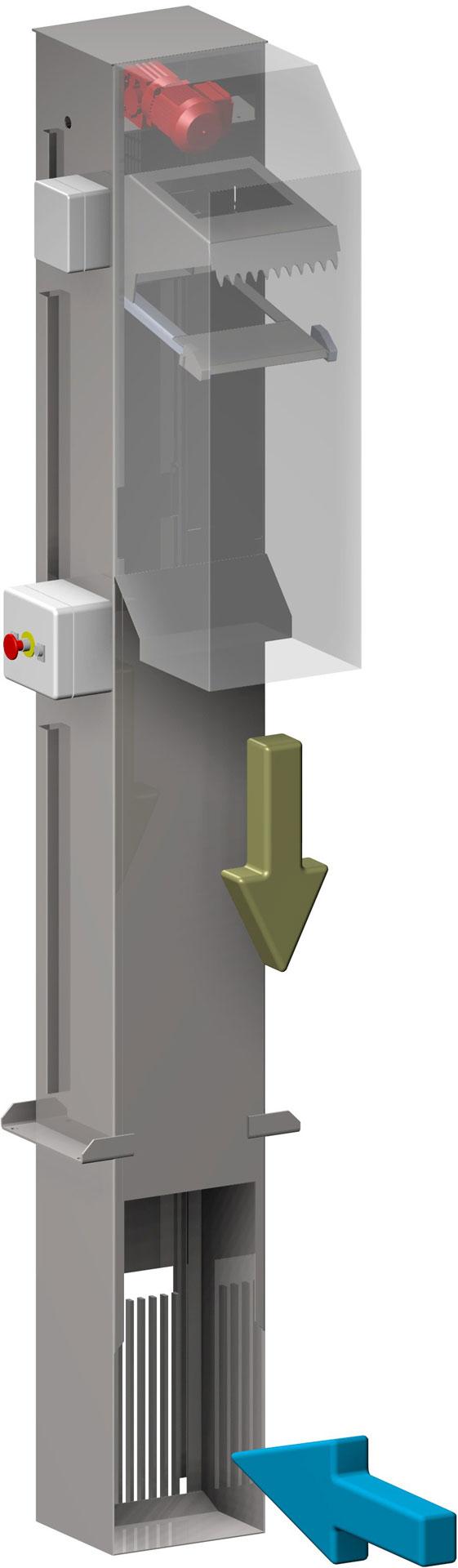 dégrilleur automatique vertical