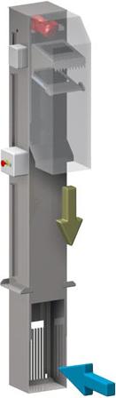 dégrilleur vertical vue 3d