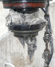 pompe de relevage obstruée