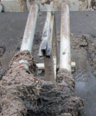 clogged aeration pipe