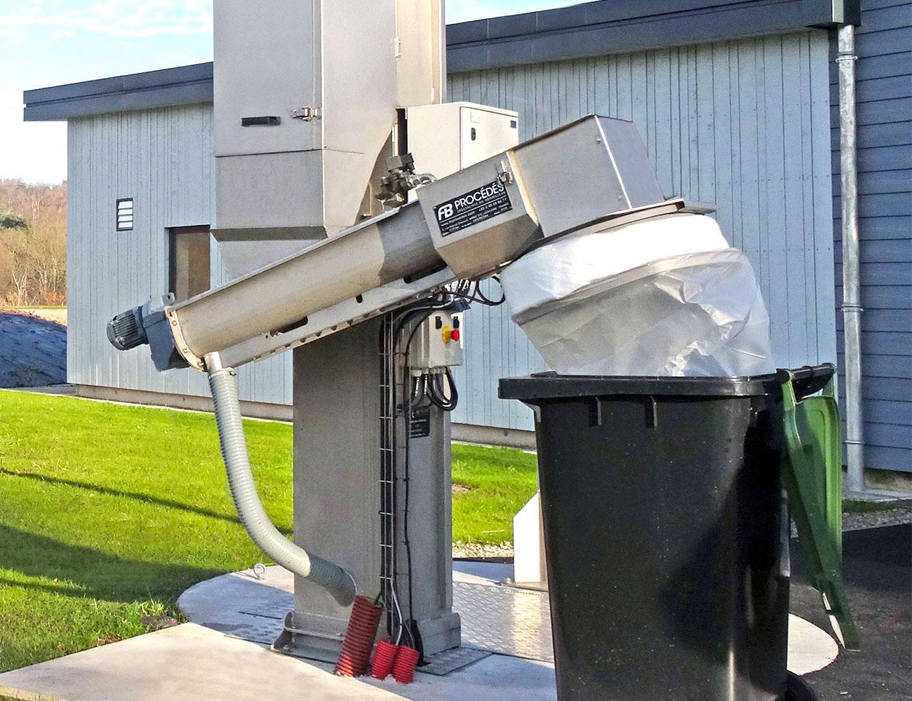 vis de compactage avec ensacheur automatique