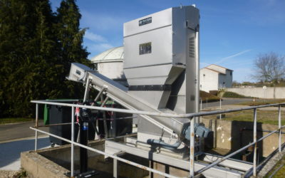 A Bar Screen / compactor set installed on a WWTP